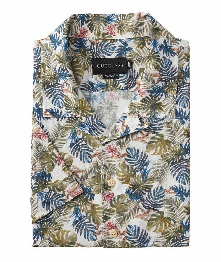 Short-Sleeve Linen-Rayon Shirt image 0