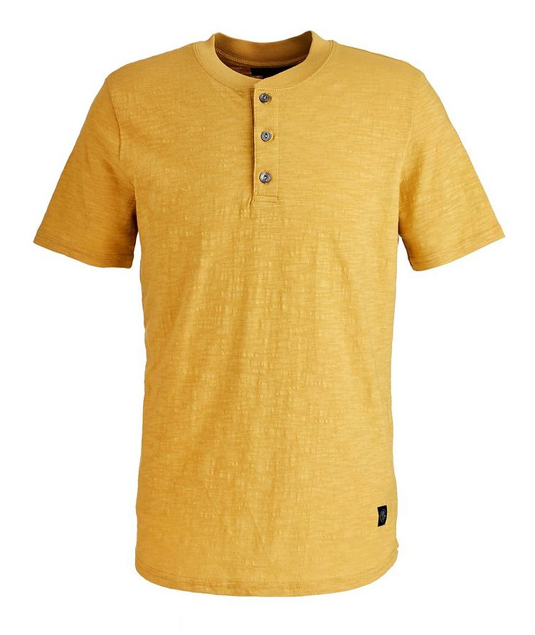 Slub Cotton Henley Shirt image 0