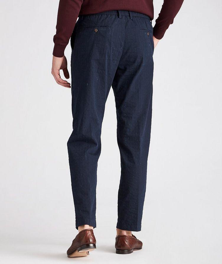 Striped Stretch Drawstring Trouser image 1