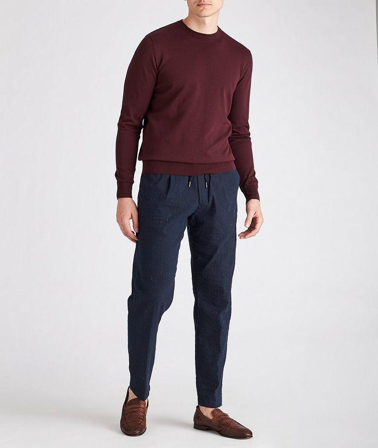 Striped Stretch Drawstring Trouser image 4
