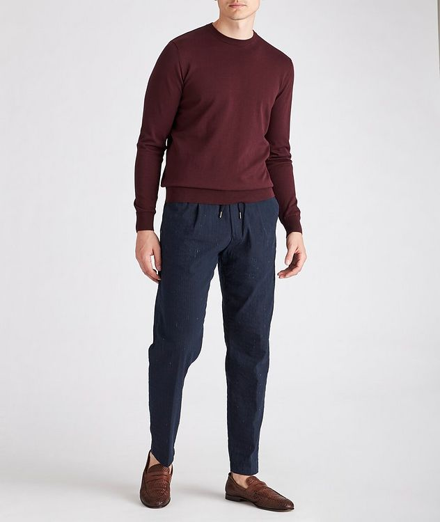 Striped Stretch Drawstring Trouser picture 5