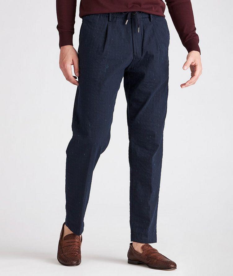 Striped Stretch Drawstring Trouser image 0