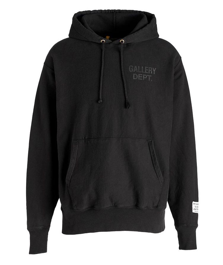Logoed Cotton-Blend Hoodie image 0