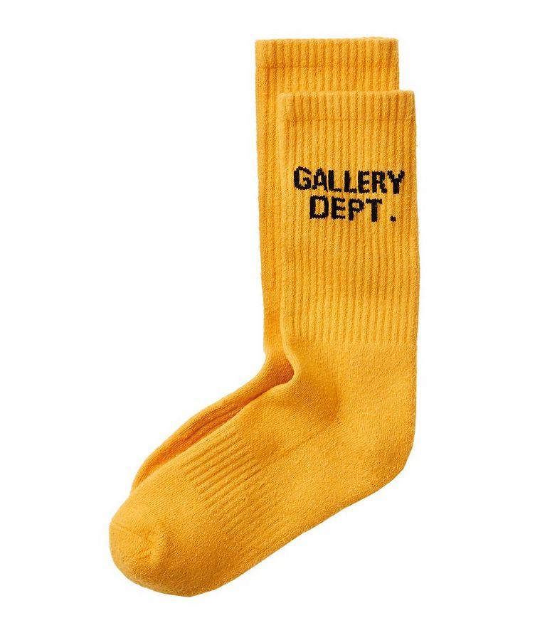Logoed Ribbed Cotton-Blend Socks image 0