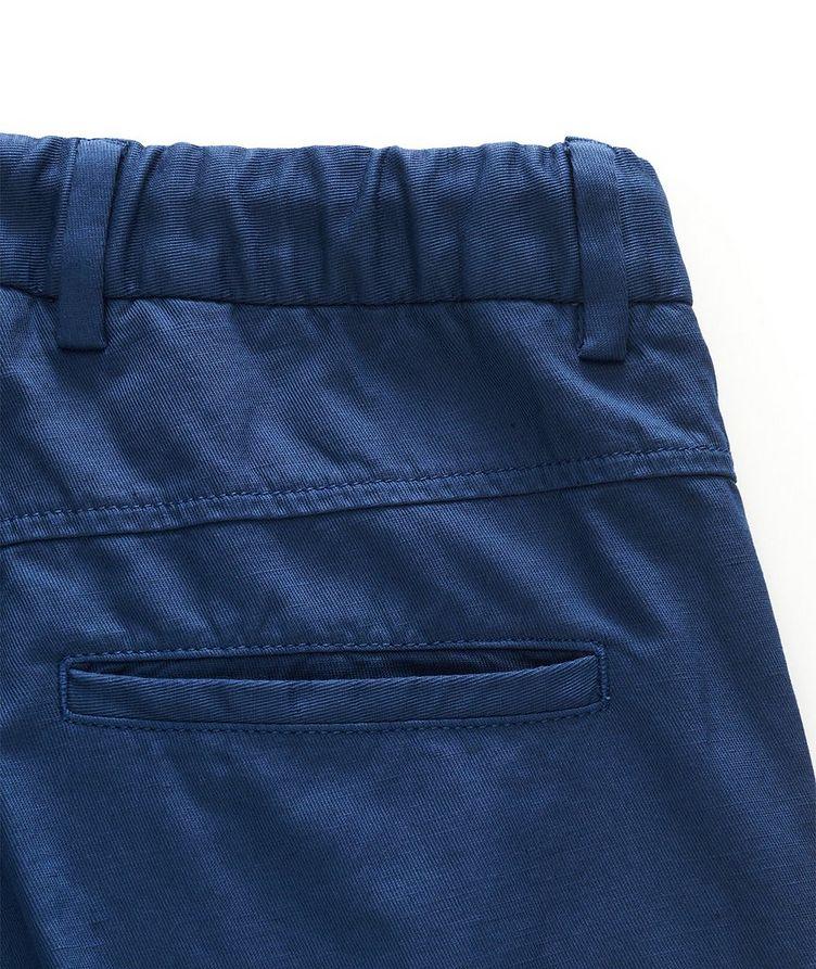 Stretch Linen-Cotton Drawstring Pants image 2