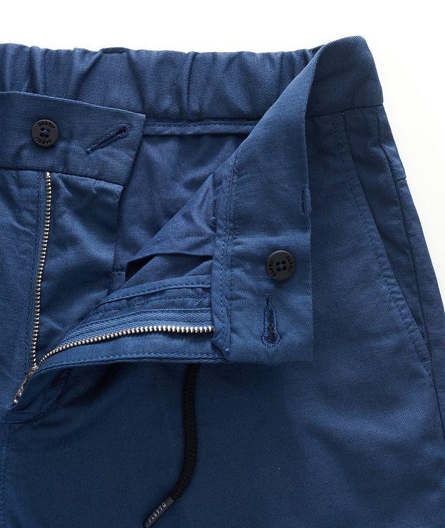 Stretch Linen-Cotton Drawstring Pants picture 4
