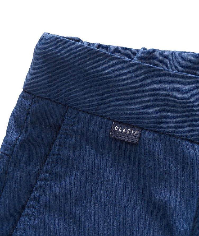 Stretch Linen-Cotton Drawstring Pants image 4