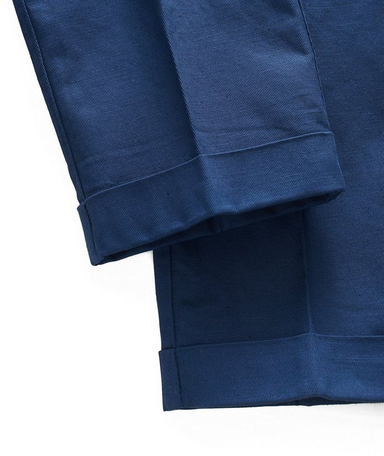 Stretch Linen-Cotton Drawstring Pants image 5