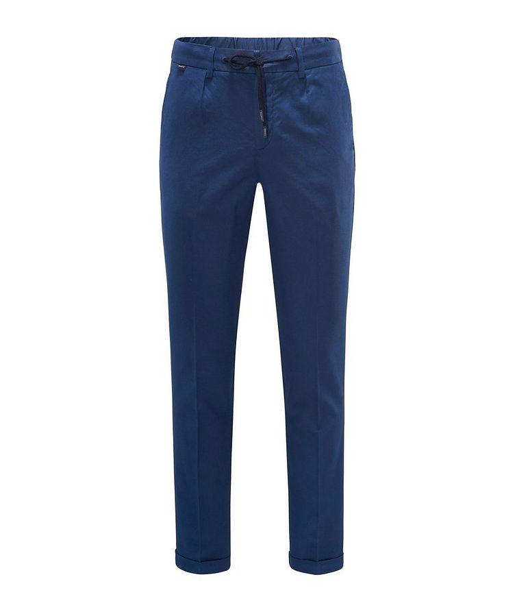 Stretch Linen-Cotton Drawstring Pants image 0
