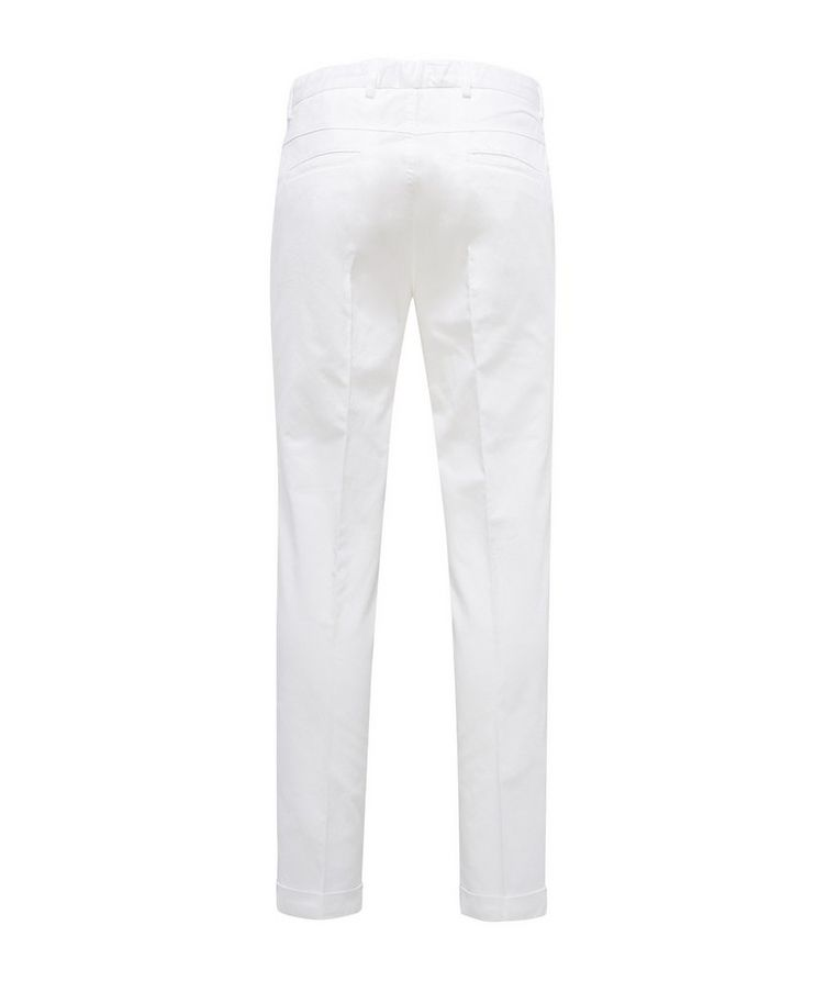 Stretch Linen-Cotton Drawstring Pants image 1