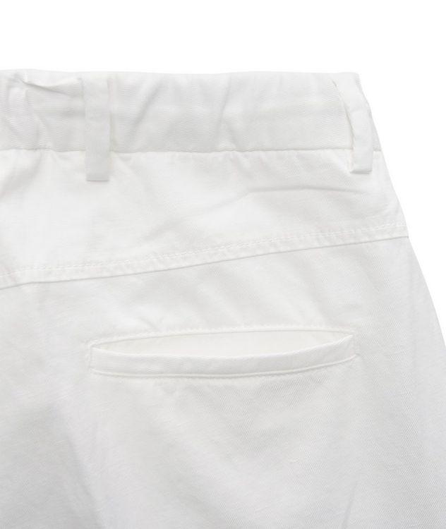 Stretch Linen-Cotton Drawstring Pants picture 3