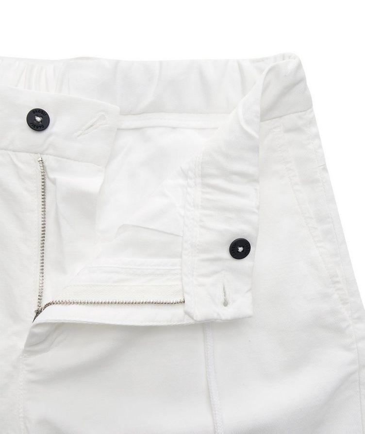 Stretch Linen-Cotton Drawstring Pants image 3
