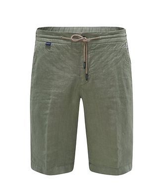 04651/ A TRIP IN A BAG Linen Bermuda Shorts
