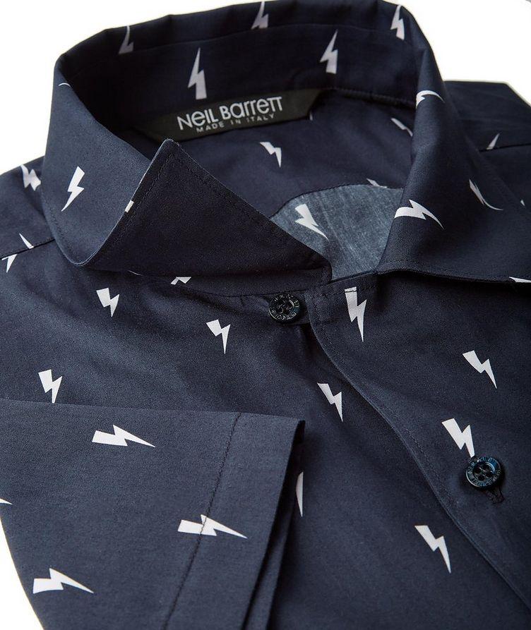Short-Sleeve Thunderbolt Cotton Shirt image 1