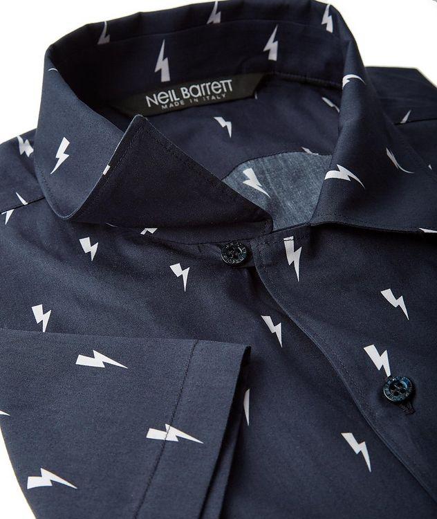 Short-Sleeve Thunderbolt Cotton Shirt picture 2
