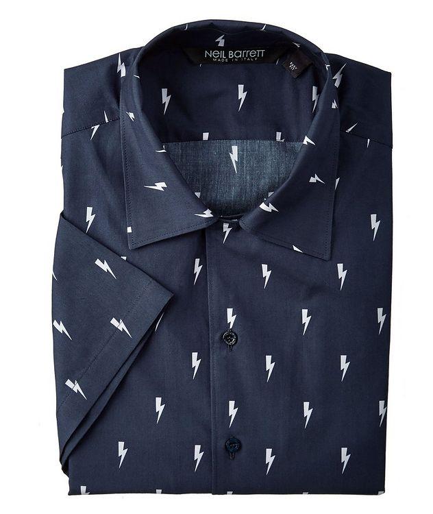 Short-Sleeve Thunderbolt Cotton Shirt picture 1