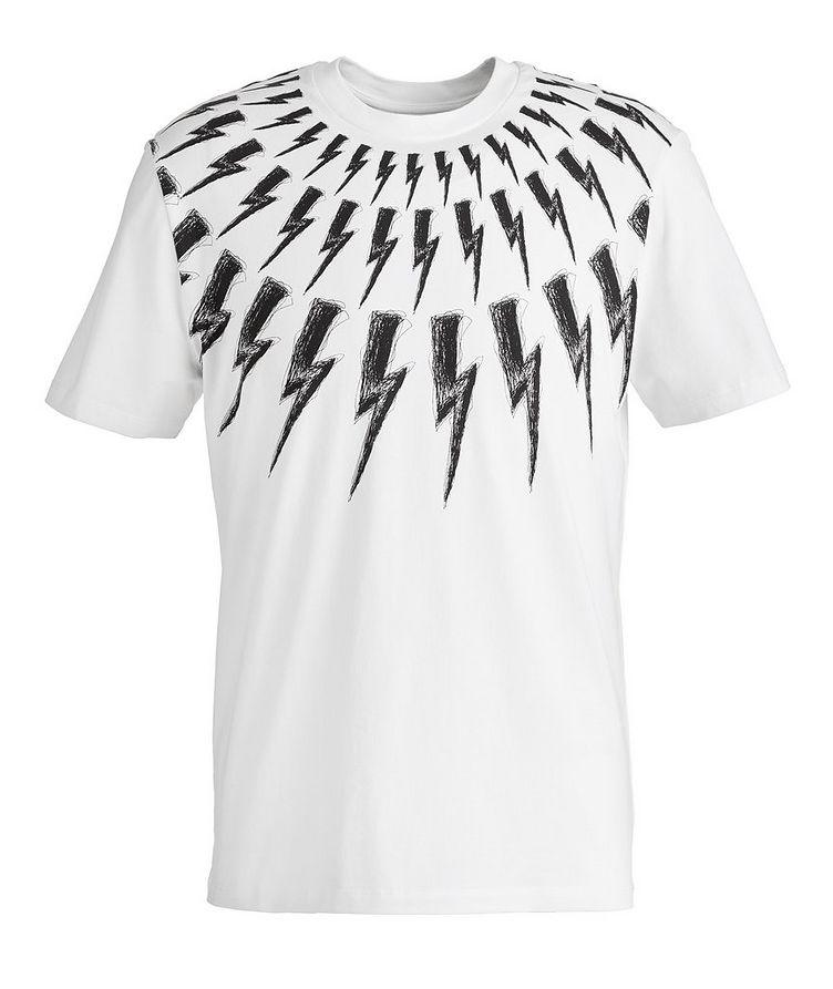 Fair-Isle Thunderbolt Cotton T-Shirt image 0