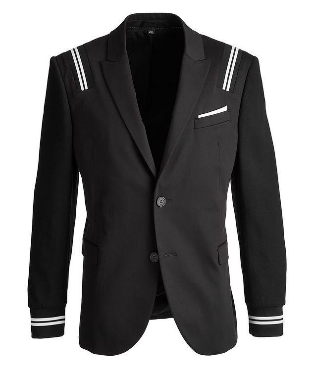 Slim-Fit Stretch-Cotton-Blend Hybrid Sports Jacket picture 1