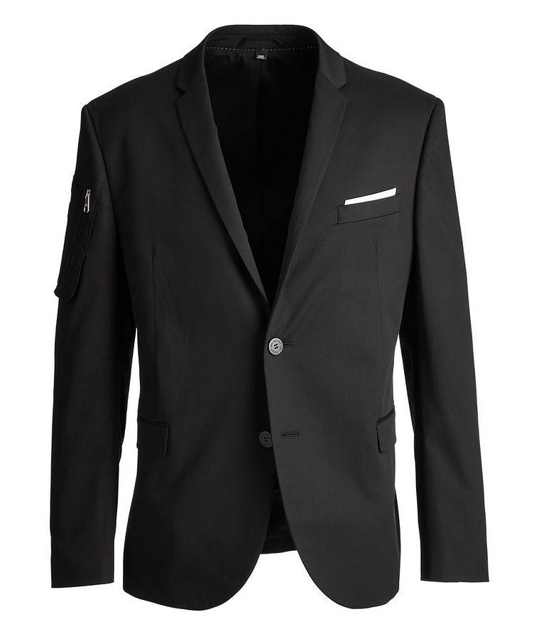 Slim-Fit Stretch-Cotton Sports Jacket image 0