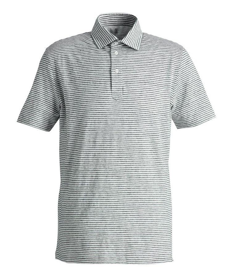 Striped Stretch-Linen Polo image 0