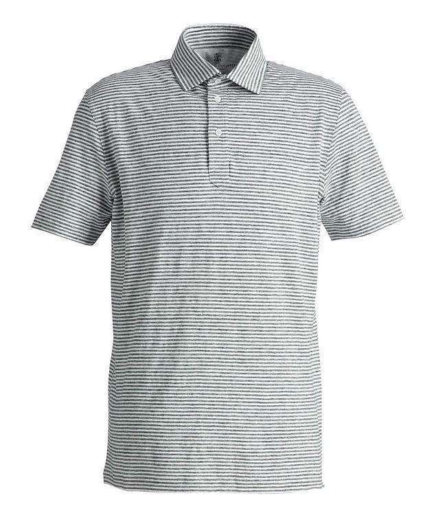 Striped Stretch-Linen Polo picture 1