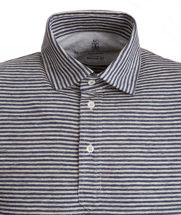 Striped Stretch-Linen Polo picture 2
