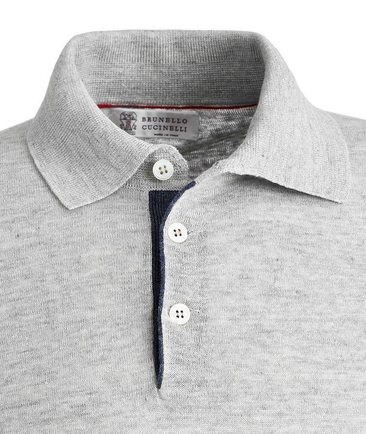 Knit Linen-Cotton Polo image 1
