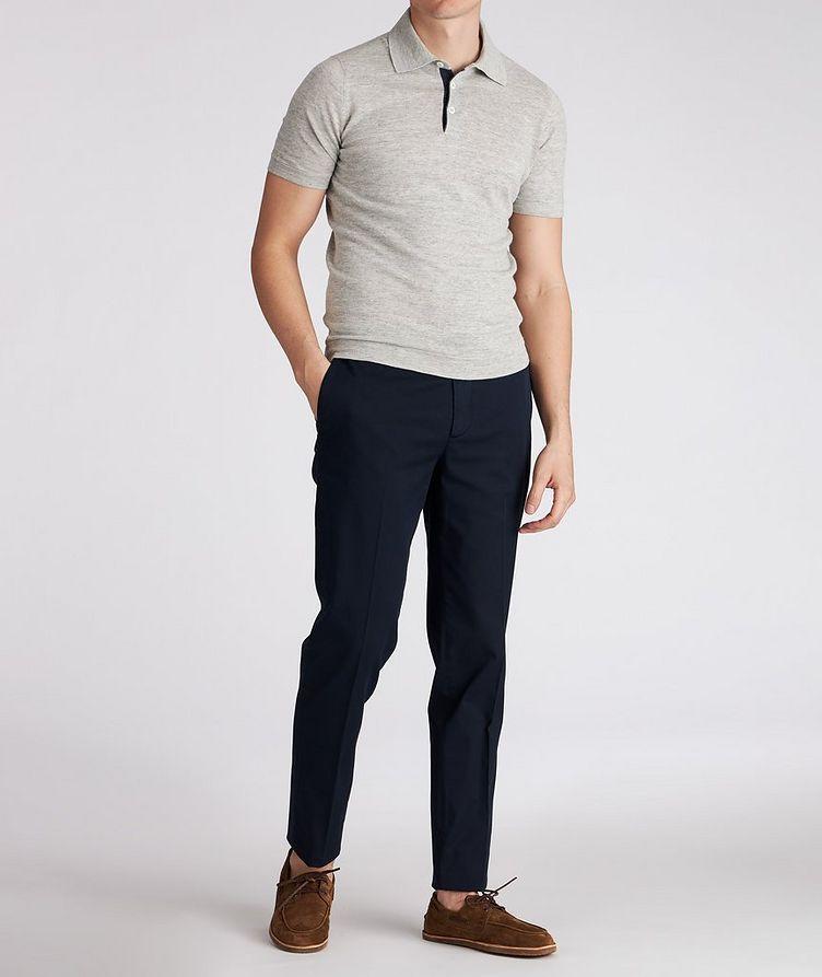 Knit Linen-Cotton Polo image 2