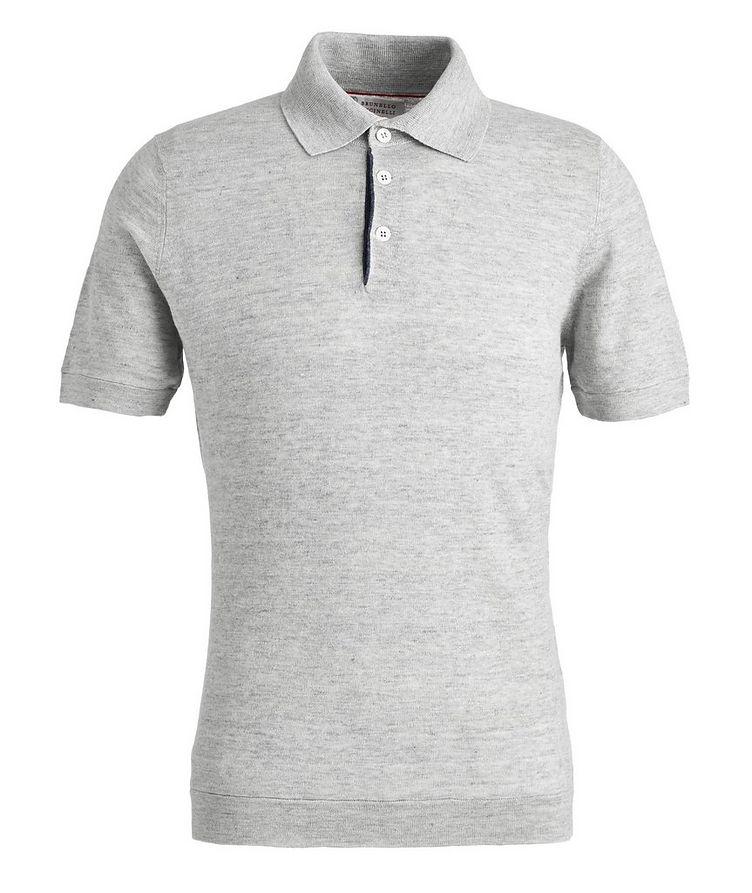 Knit Linen-Cotton Polo image 0