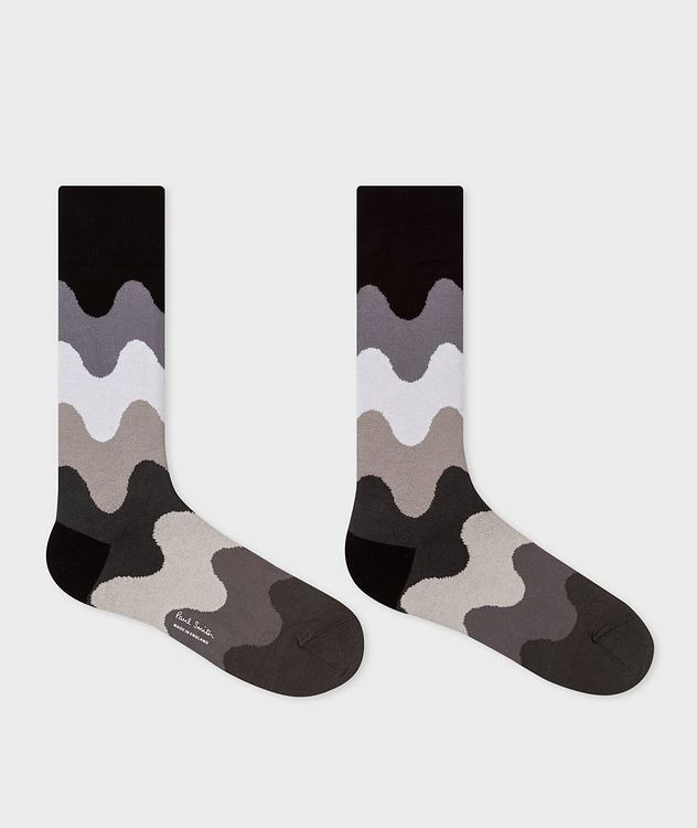 Printed Stretch-Cotton-Blend Socks picture 2