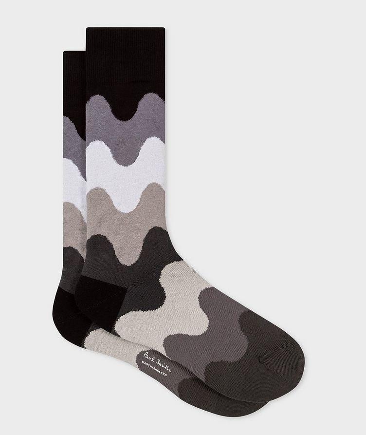 Printed Stretch-Cotton-Blend Socks image 0