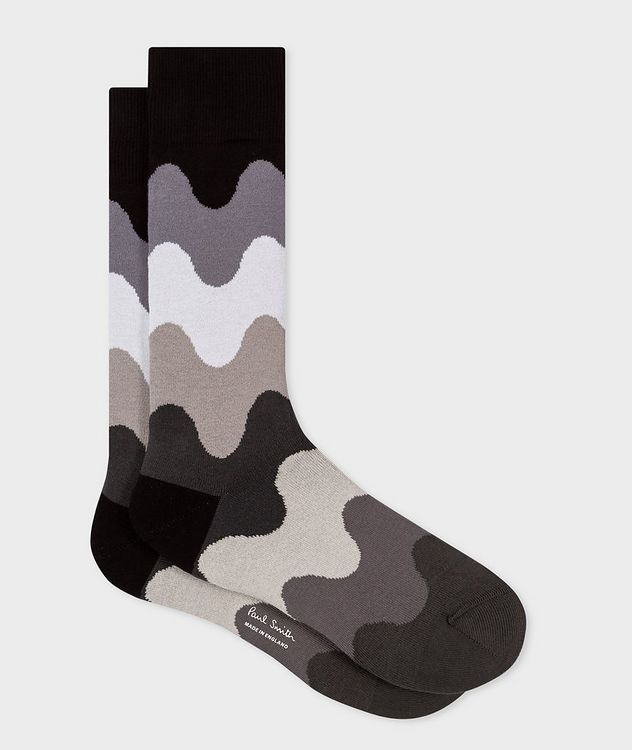 Printed Stretch-Cotton-Blend Socks picture 1