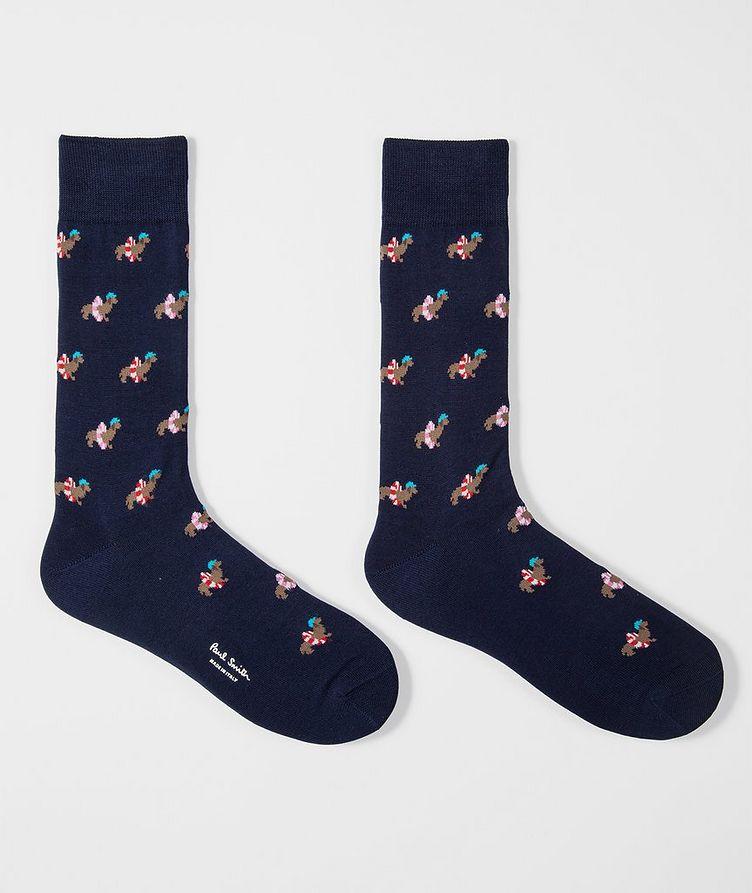 Printed Cotton-Blend Socks image 1
