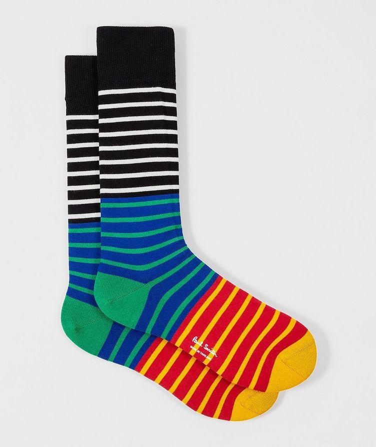 Striped Cotton-Blend Socks image 0