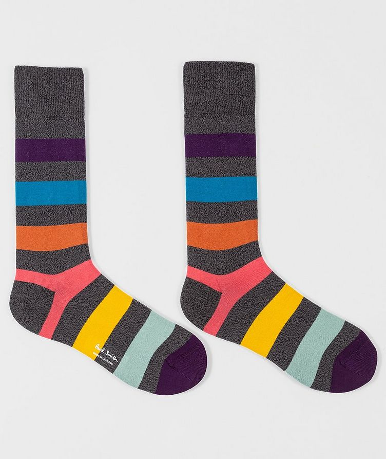 Striped Cotton-Blend Socks image 1