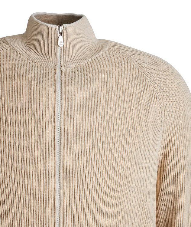 Zip-Up Cable Knit Sweater picture 2