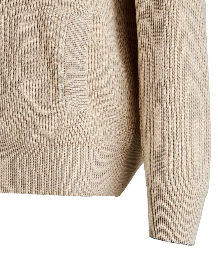 Zip-Up Cable Knit Sweater image 2