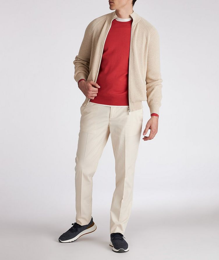 Zip-Up Cable Knit Sweater image 3