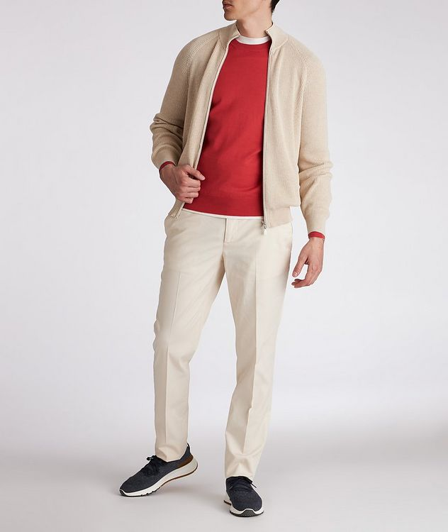 Zip-Up Cable Knit Sweater picture 4