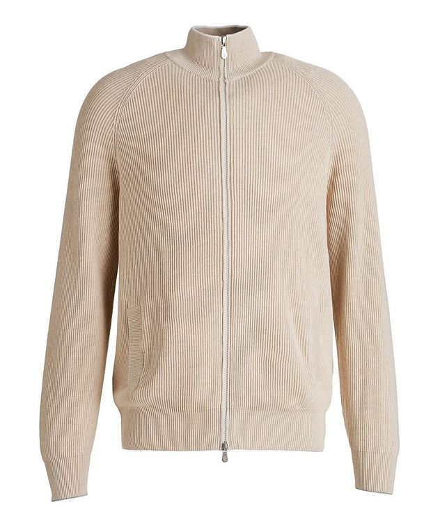 Zip-Up Cable Knit Sweater picture 1