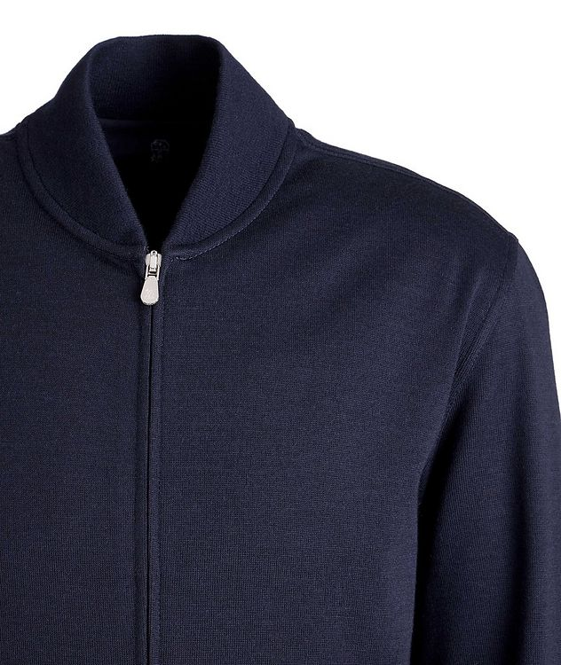 Zip-Up Cashmere-Stretch Cotton Sweater picture 2