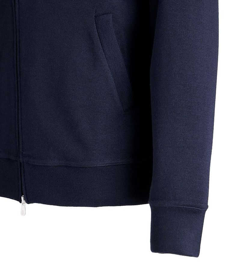 Zip-Up Cashmere-Stretch Cotton Sweater image 2