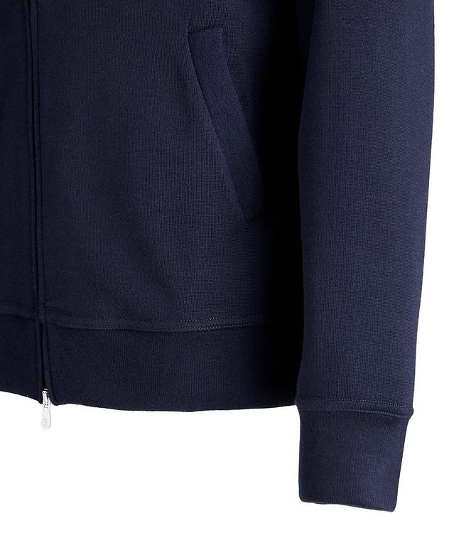 Zip-Up Cashmere-Stretch Cotton Sweater picture 3