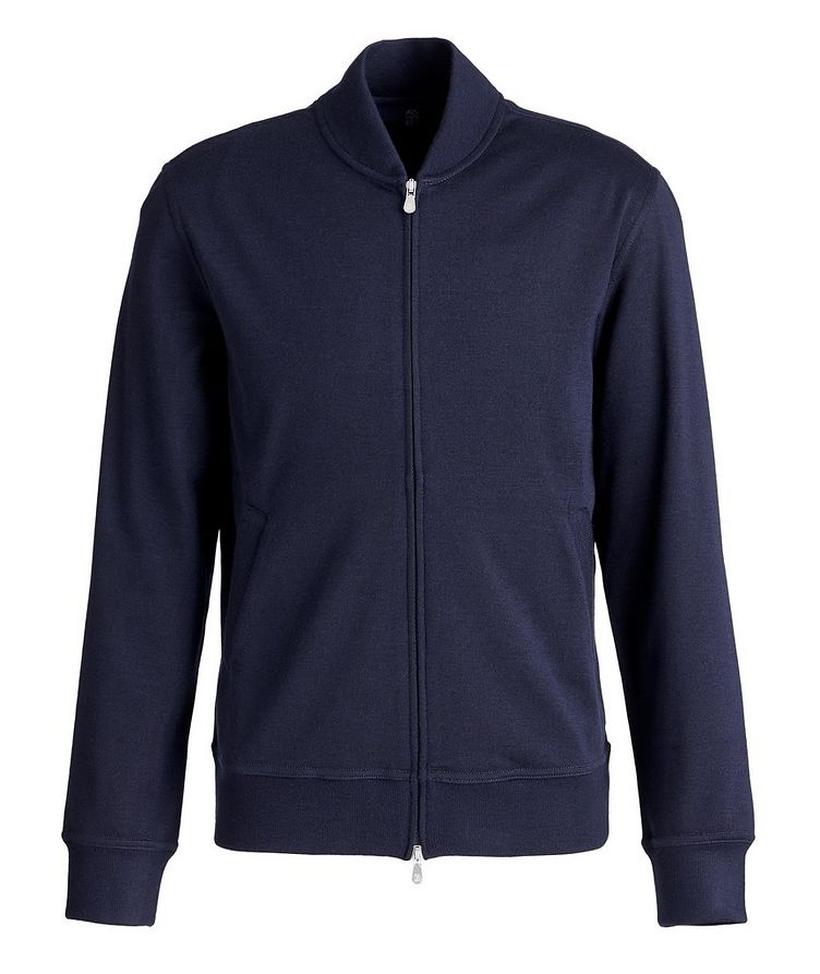 Zip-Up Cashmere-Stretch Cotton Sweater image 0