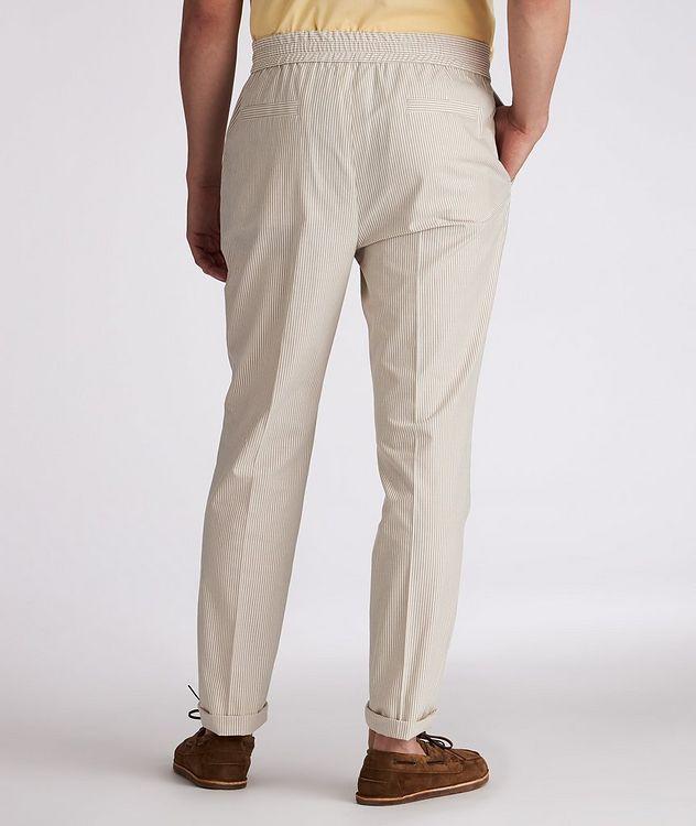 Striped Stretch-Cotton Drawstring Pants picture 3