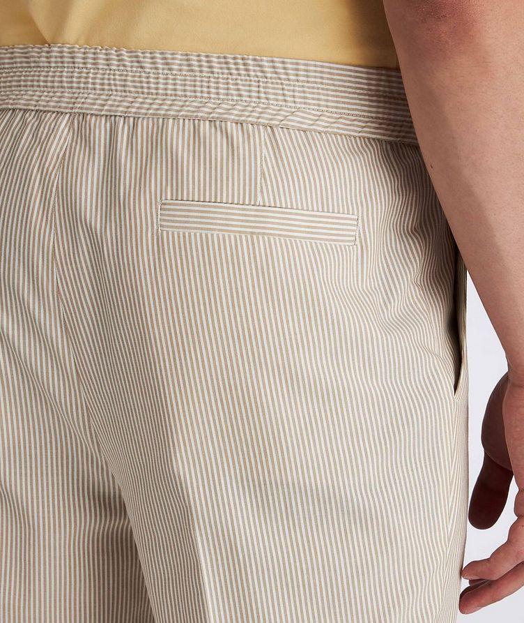 Striped Stretch-Cotton Drawstring Pants image 3