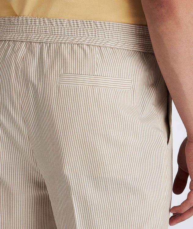 Striped Stretch-Cotton Drawstring Pants picture 4