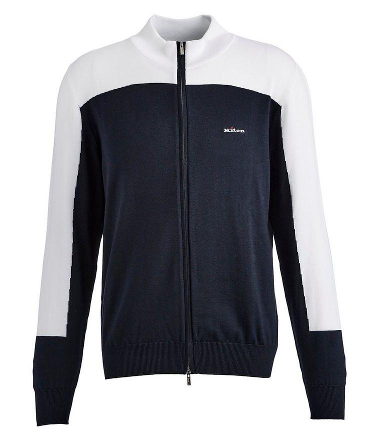 Zip-Up Cotton Sweatshirt image 0