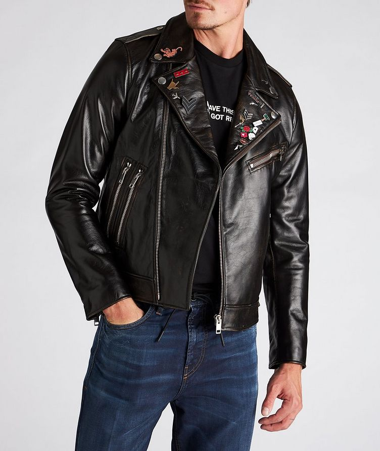 L-Garrett-New Leather Biker Jacket image 1