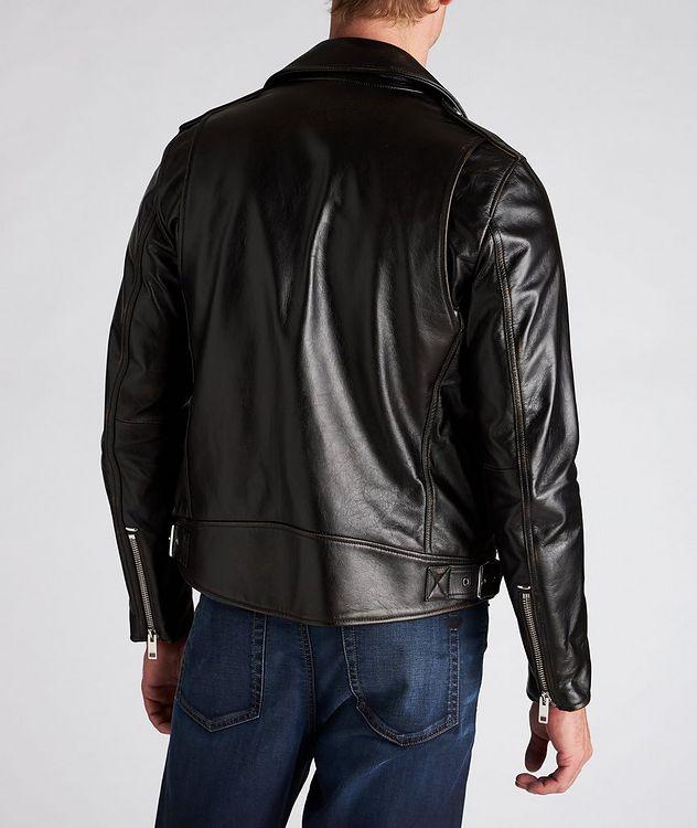 L-Garrett-New Leather Biker Jacket picture 3